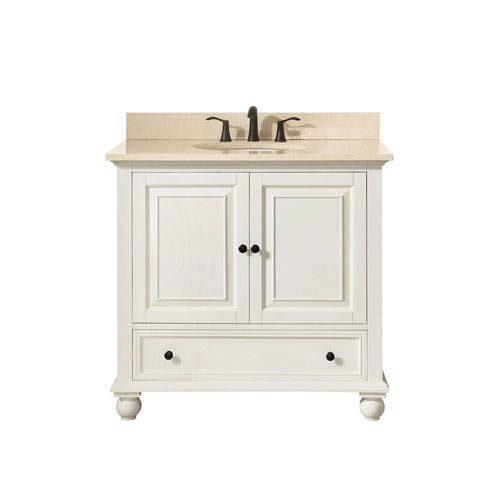 251 First Grace French White 37-Inch Vanity Combo