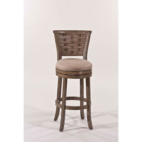 251 First Hayden Light Antique Graywash Swivel Bar Stool