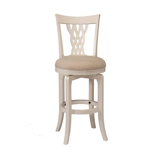 251 First Grace White Swivel Counter Stool