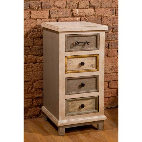 251 First Quinn Dove Gray Four Drawer Cabinet