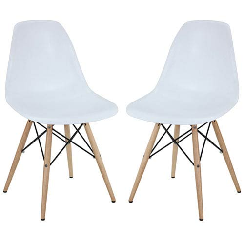 251 First Nicollet Dining Chairs in White, Set of Two