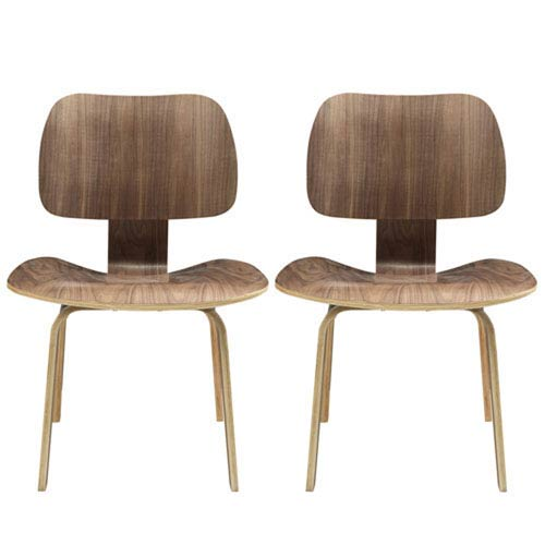 251 First Nicollet Dining Chairs in Walnut, Set of Two