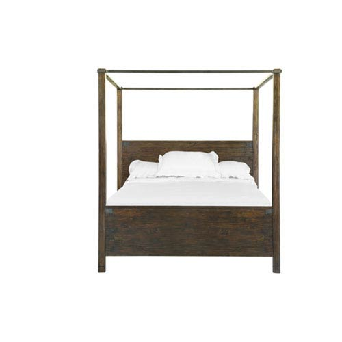Fulton Rustic Pine King Poster Bed