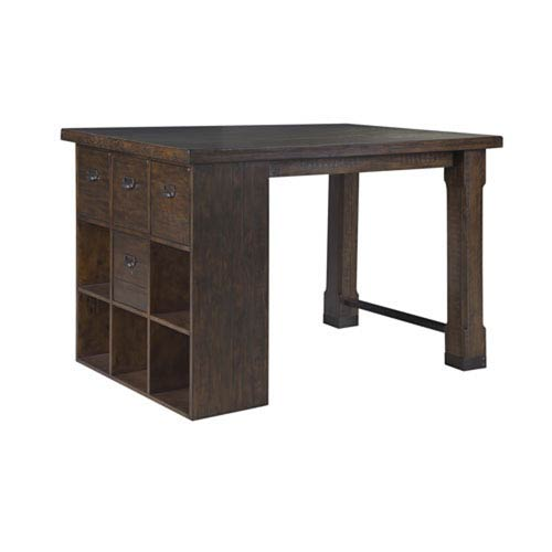 Fulton Rustic Pine Counter Height Desk