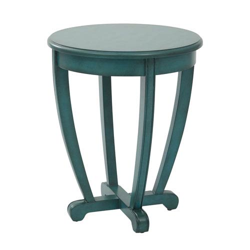 251 First Grace Blue Accent Table