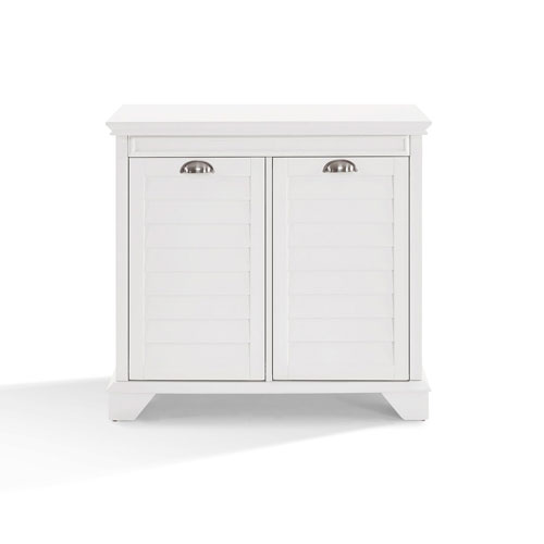 Grace White Linen Hamper