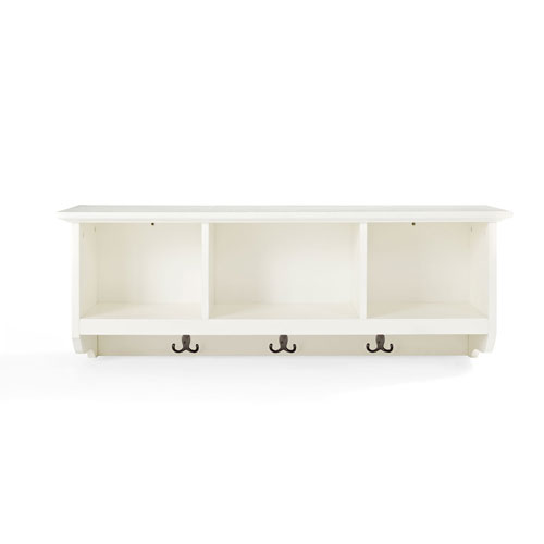 Hayden White Entryway Storage Shelf