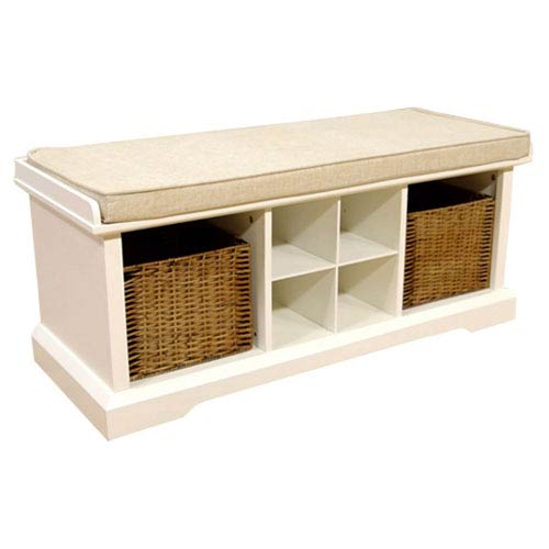 251 first hayden white entryway storage bench cf6003 wh bellacor. Black Bedroom Furniture Sets. Home Design Ideas