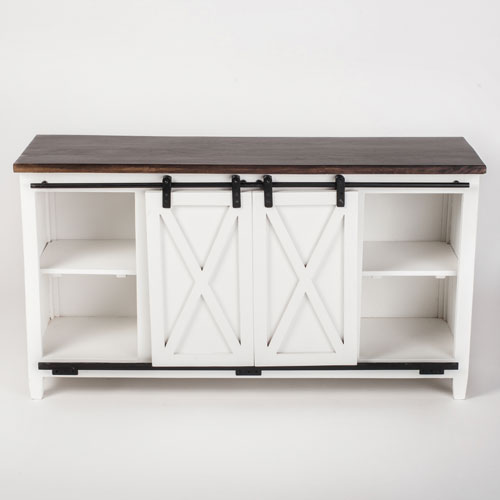 251 First Fulton White Console Media Stand