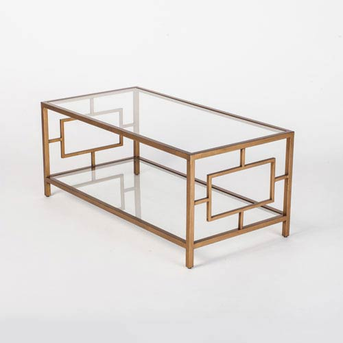 Linden Gold Cocktail Table