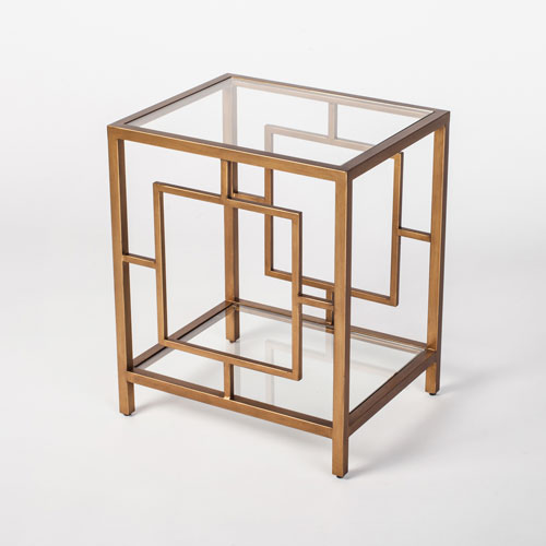 251 First Linden Gold End Table