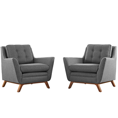 251 First Loring 2 Piece Fabric Living Room Set in Gray