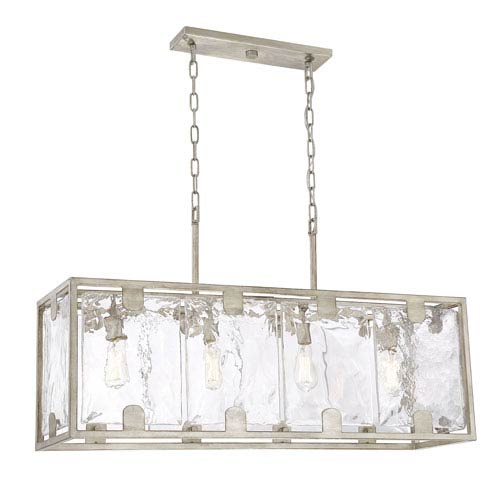 Whittier Silver Dust Four-Light Island Pendant