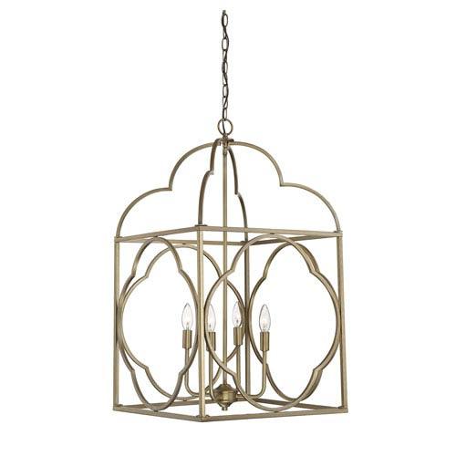Whittier Natural Brass Six-Light Lantern Pendant