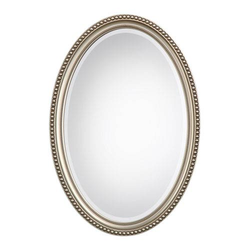 251 First Wellington Silver Oval Mirror