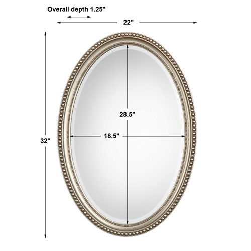 Wellington Silver Oval Mirror