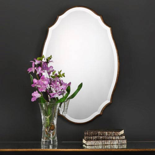 Evelyn Oval Gold Mirror