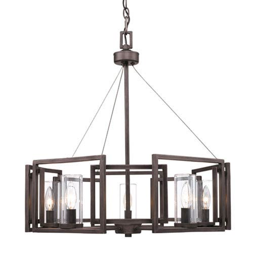 Linden Bronze Five-Light Chandelier