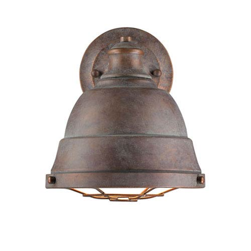 Fulton Copper Patina One-Light Cage Wall Sconce