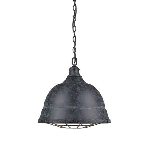 Fulton Black Patina Two-Light Cage Pendant