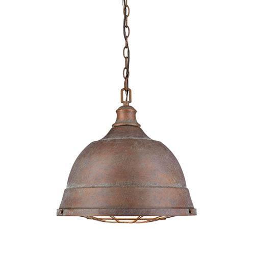 Fulton Copper Patina Two-Light Cage Pendant