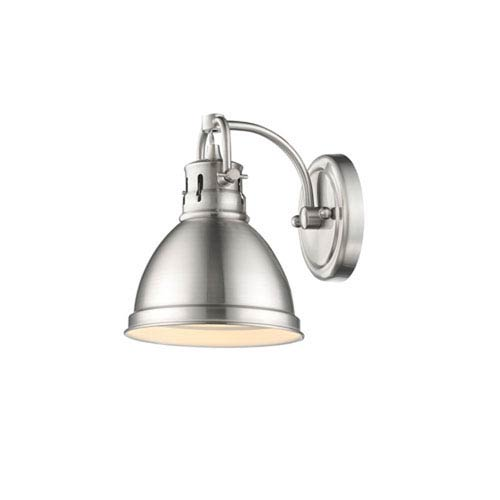 251 First Quinn Pewter One-Light Vanity Fixture