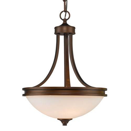 251 First Evelyn Sovereign Bronze Three-Light Pendant
