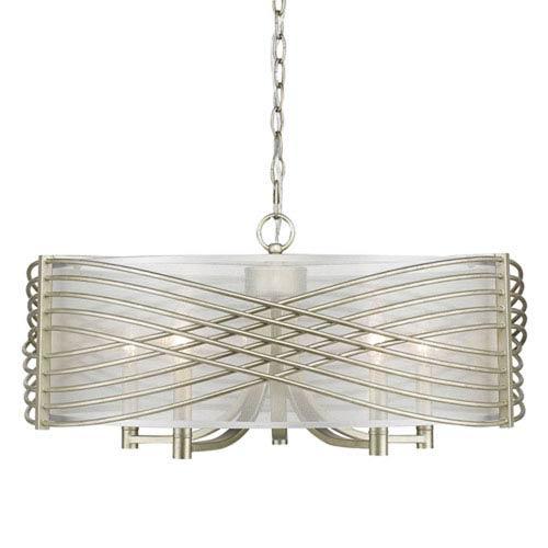 Vivian White Gold Five-Light Pendant