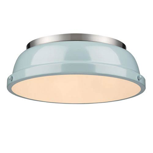 Quinn Seafoam and Pewter Two-Light Flush Mount