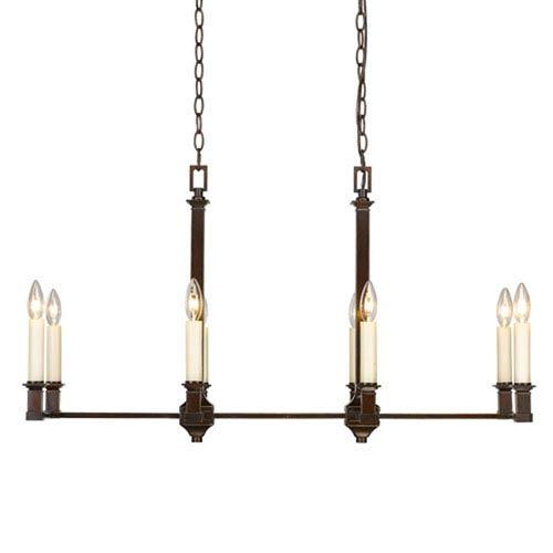 Wellington Cordoban Bronze Eight-Light Linear Pendant