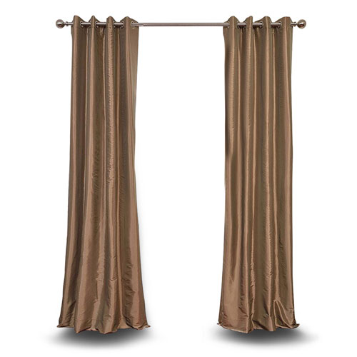 251 First Monroe Gold 84 x 50-Inch Grommet Blackout Faux Silk Taffeta Curtain Single Panel