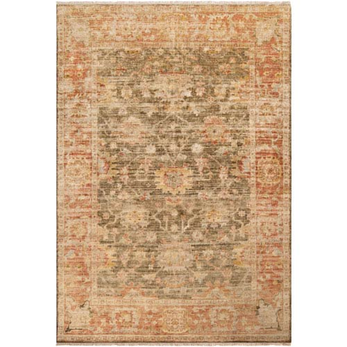 251 First Aster Red and Brown Rectangular: 2 Ft. x 3 Ft. Rug