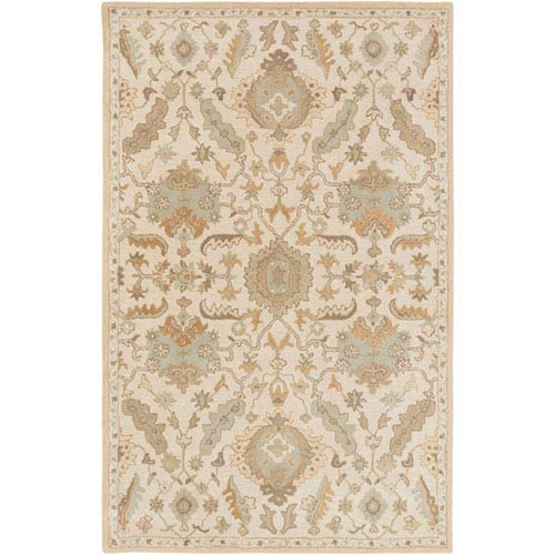 251 First Whittier Ivory and Gold Rectangular: 2 Ft x 3 Ft Rug