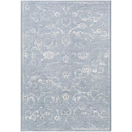 251 First Linden White And Blue Rectangular 2 Ft X 3 Rug