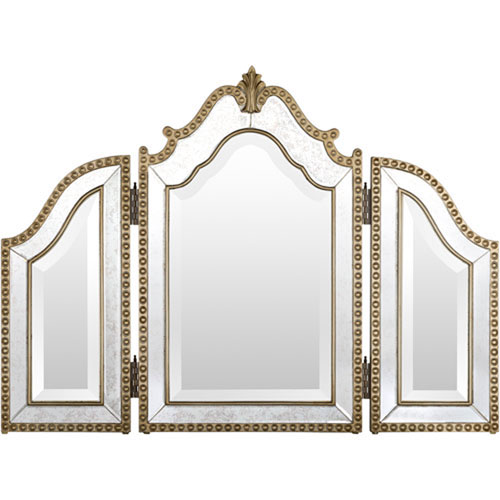 251 First Wellington Arched Gold Wall Mirror