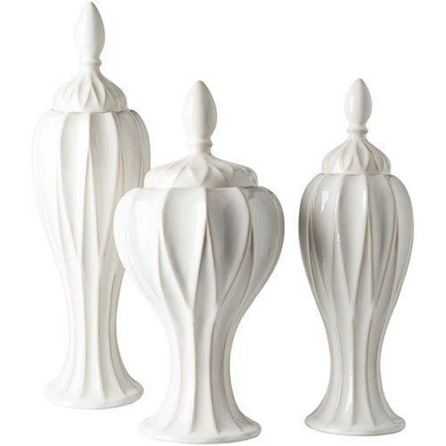 Evelyn White Jar Set