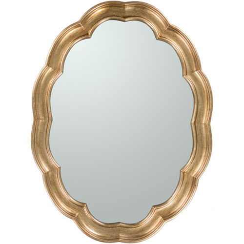 251 First Linden Gold Oval Wall Mirror