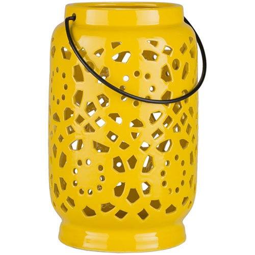 251 First Quinn Medium Mustard Lantern