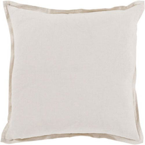 Evelyn Light Gray 20-Inch Pillow with Poly Fill