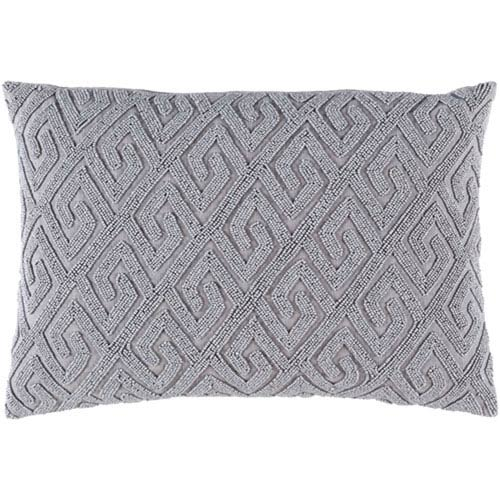 251 First Wellington Gray 13 x 19-Inch Pillow with Poly Fill