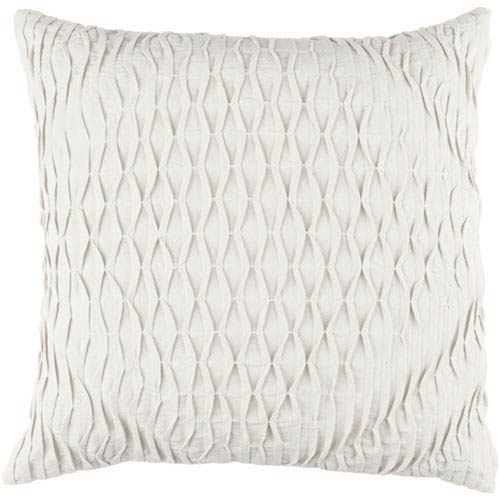 Quinn Light Gray 18-Inch Pillow with Poly Fill
