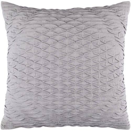 251 First Quinn Medium Gray 20-Inch Pillow with Poly Fill