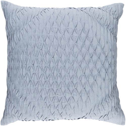 Quinn Denim 20-Inch Pillow with Poly Fill