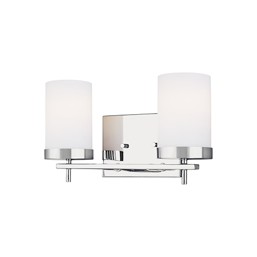 Loring Chrome Two-Light Wall Sconce