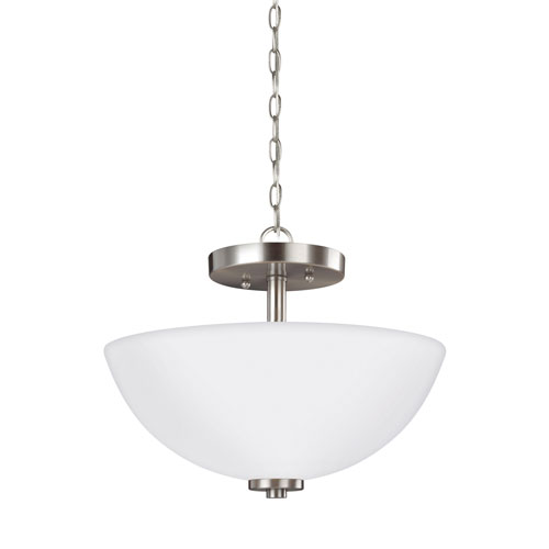 Pax Brushed Nickel Energy Star Two-Light LED Convertible Pendant