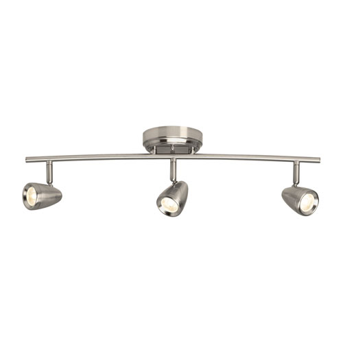 Cora Brushed Nickel Three-Light Energy Star Title 24 LED Track Fixture