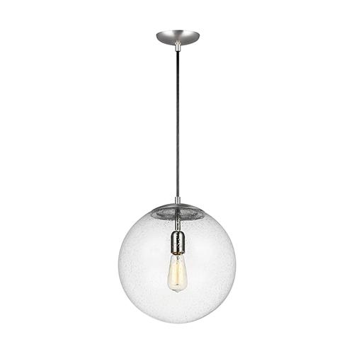 Cora Globe Satin Aluminium 14-Inch One-Light Pendant