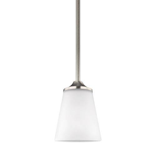 Linden Brushed Nickel One-Light Mini Pendant