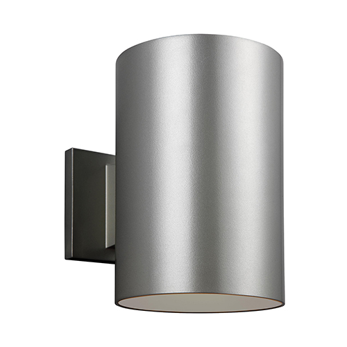 Castor Painted Brushed Nickel Nine-Inch LED Outdoor Wall Sconce