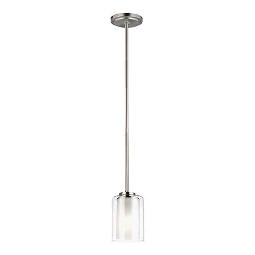 Uptown Brushed Nickel One-Light Mini Pendant